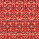 Orange Yellow   Geometric Pattern series by webgrrl