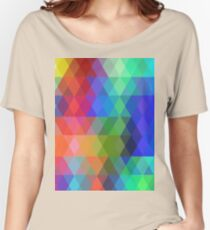 Abstract hipsters pattern with colored rhombus Women's Relaxed Fit T-Shirt