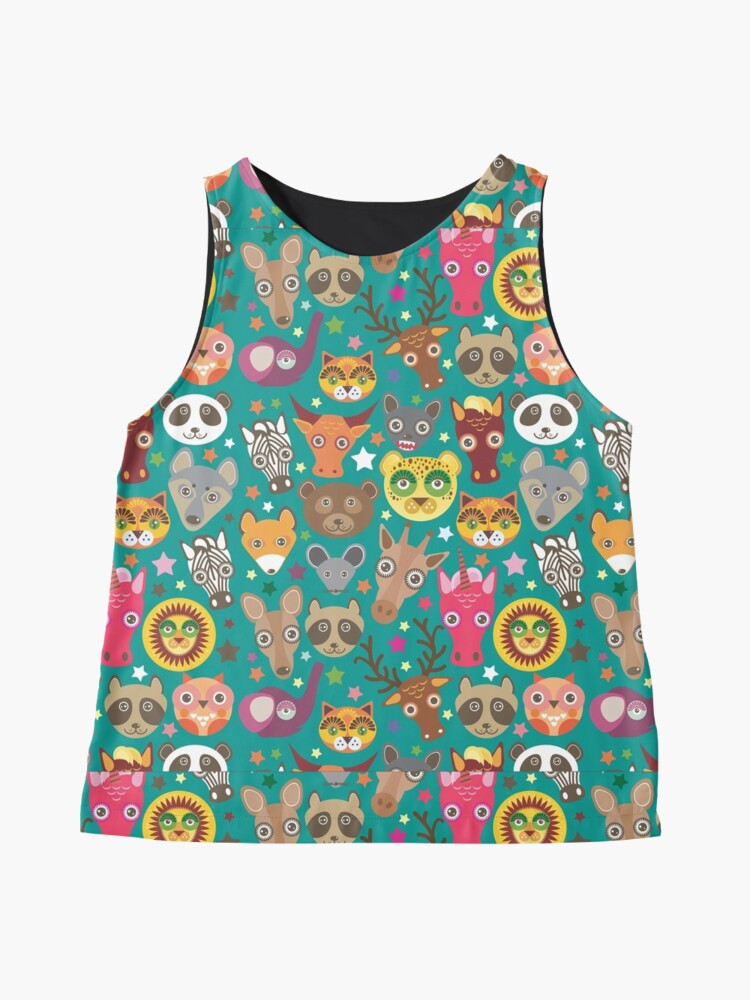 Alternate view of funny animals muzzle Sleeveless Top