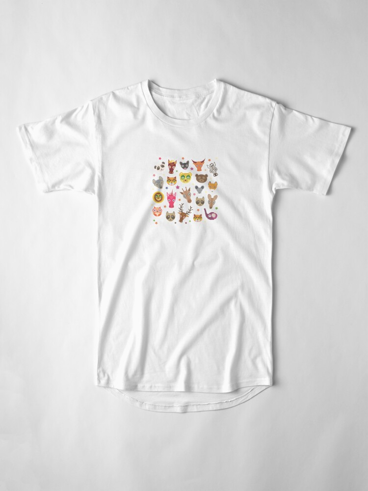 Alternate view of funny animals muzzle Long T-Shirt
