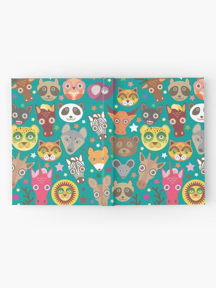 Alternate view of funny animals muzzle Hardcover Journal