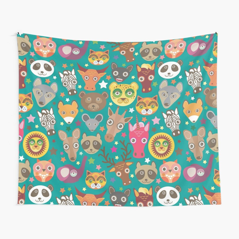 funny animals muzzle Wall Tapestry