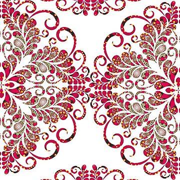 Red Gold Lights | Flourish Art by webgrrl