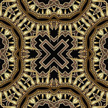 Black Gold Geometric Fusion #1 by webgrrl