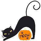 Halloween Black Cat Meow by catloversaus