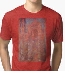 Rouen Cathedral Facade Claude Monet  Tri-blend T-Shirt