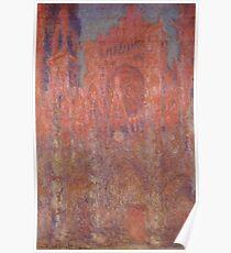 Rouen Cathedral Facade Claude Monet  Poster