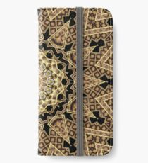 Golden Sun Mandala Geometric Flower iPhone Wallet/Case/Skin
