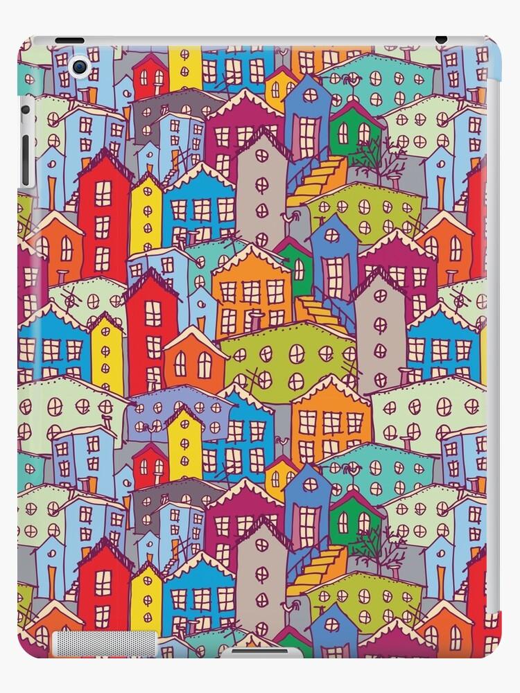 «Paisaje urbano de patrones sin fisuras. Bosquejo.» de EkaterinaP