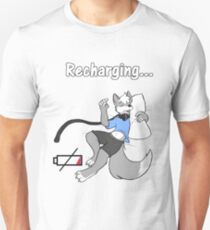 Sleepy Furry Wolf Snoozing and Recharging T-Shirt