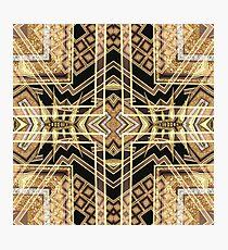 Black and Gold • Art Deco Fusion • Geometric Photographic Print