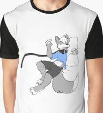 Sleepy furry wolf snoozing Graphic T-Shirt