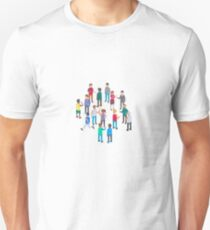 Isometric people Unisex T-Shirt