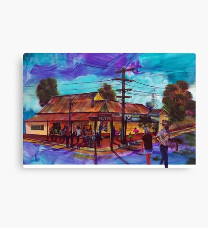 George's Hotel Carinda - Bowie Tribute 'Let's Dance' Canvas Print