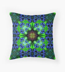 Blue Green Star Mandala Floor Pillow