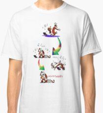 music dance hugs sleep calvin and hobbes Classic T-Shirt
