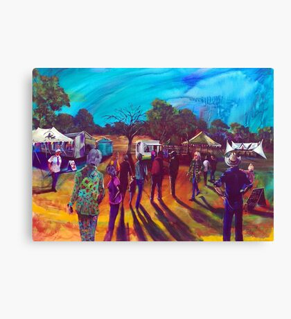 Carinda 'Let's Dance' Bowie Tribute - the Oval Stage Canvas Print