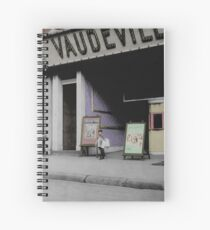 Vaudeville Newsboy Spiral Notebook