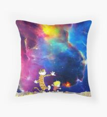Calvin and Hobbes Nebula Throw Pillow
