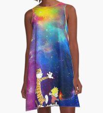 Calvin and Hobbes Nebula A-Line Dress