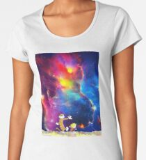 Calvin and Hobbes Nebula Women's Premium T-Shirt