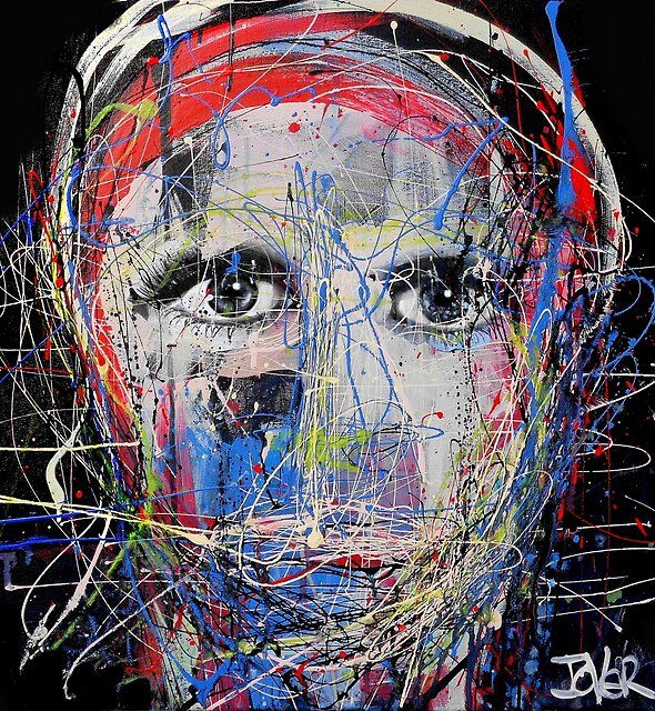 portrait of a young man as artist by Loui  Jover