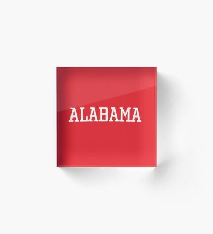 Alabama Athletic Style Acrylic Block