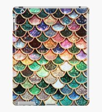 Copper Green Gold and Pink Sparkle Faux Glitter Mermaid Scales iPad Case/Skin