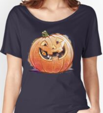 Pumpkin Spice Kitty Women's Relaxed Fit T-Shirt