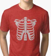 Grandma In Heart Skeletons Halloween Funny  Tri-blend T-Shirt