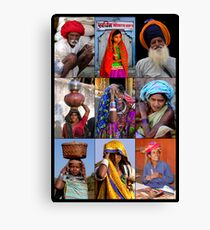FACES OF INDIA Canvas Print