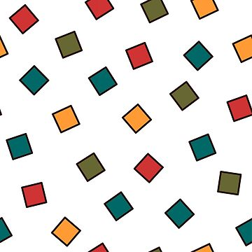 80's pattern - Square Colorful Pattern with Space by mydesignontrack