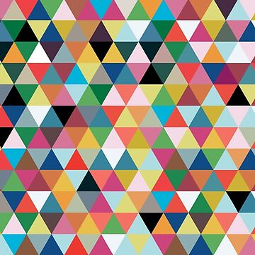 Colorful triangle pattern by mydesignontrack