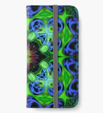Blue Green Star Mandala iPhone Wallet/Case/Skin