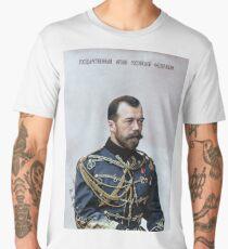 Tsar Nicholas II, last Russian emperor (1894–1917) Men's Premium T-Shirt