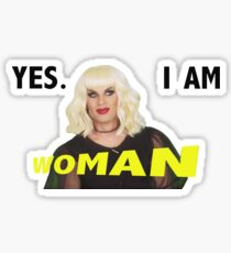 yes i am woman Sticker