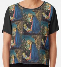 "Sandro Botticelli ""The Virgin Adoring the Sleeping Christ Child"", 1490 Chiffon Top"
