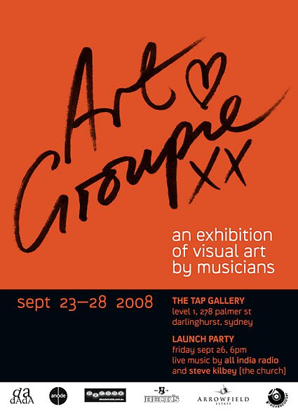 artGroupie an exhibition of visual art by musicians by georgiez