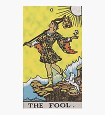 The Fool - Tarot Card (High Definition) Photographic Print