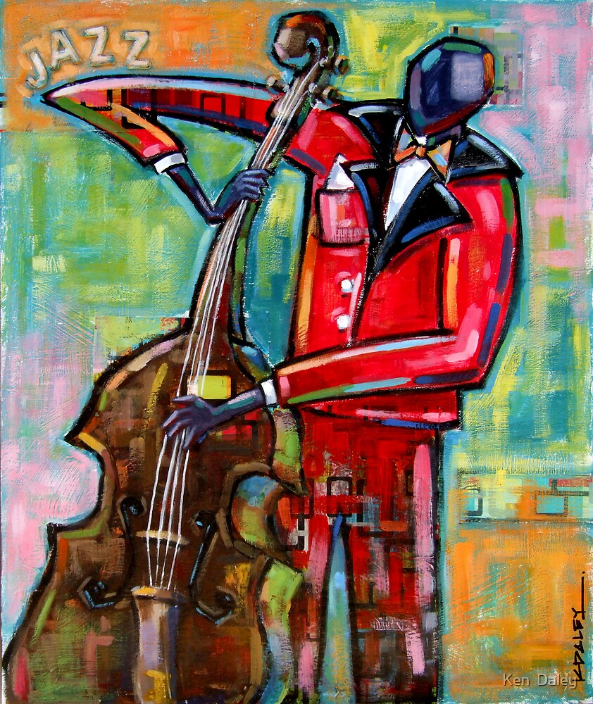 Bass Player by Ken  Daley