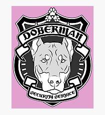 DOBERMAN Security Service - Pink Photographic Print