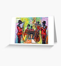 Jazz Band Greeting Card