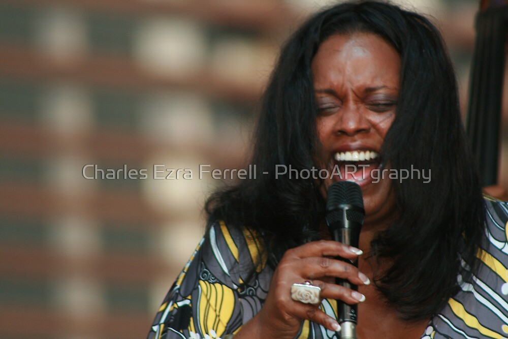 Dianne Reeves by Charles Ezra Ferrell - PhotoARTgraphy