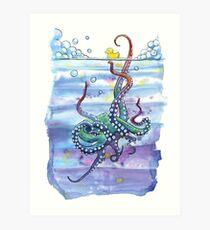 Bath Time Octopus Art Print