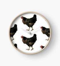 Little Speckled Hens Clock