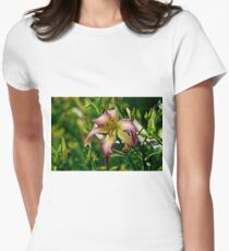 """Northwind Dancer"" Daylily Women's Fitted T-Shirt"
