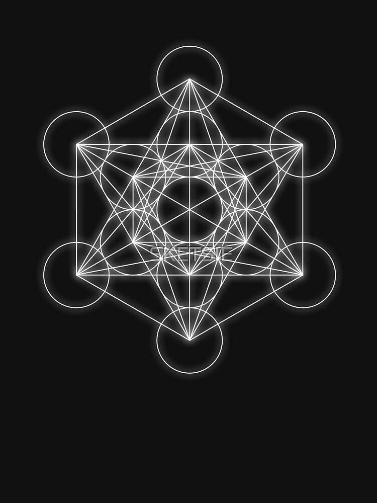 Metatron's cube white glow by SKETSIE