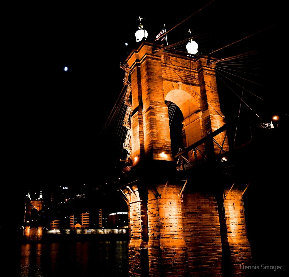 The Roebling Suspension Bridge by Dennis Smoyer