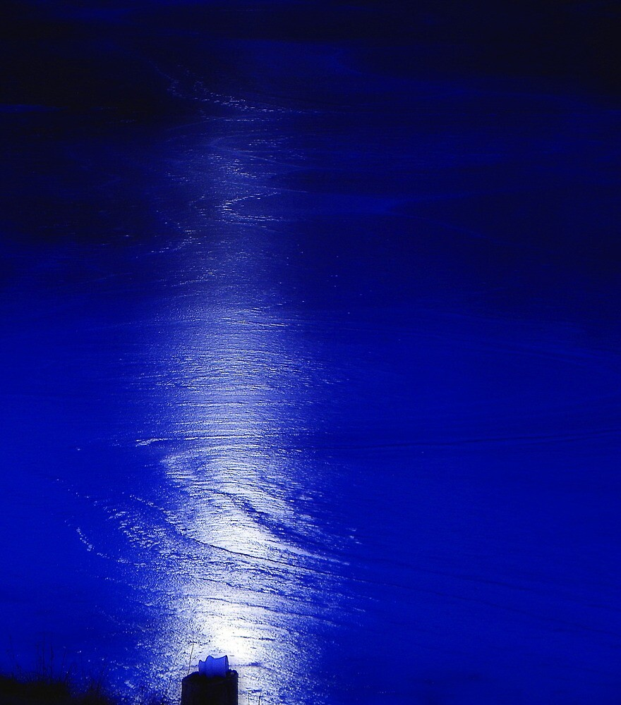 Moonlight on ice by Robin Simmons