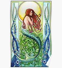 Kelp Forest Mermaid Poster
